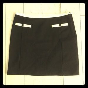 Zara Basic white trim mini Skirt